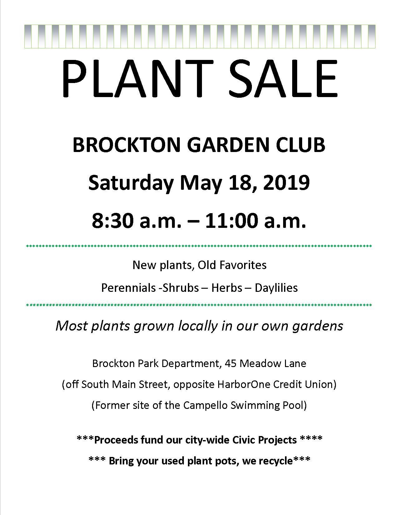 Garden Club Plant Sale, May 18, 2019 - Garden Club